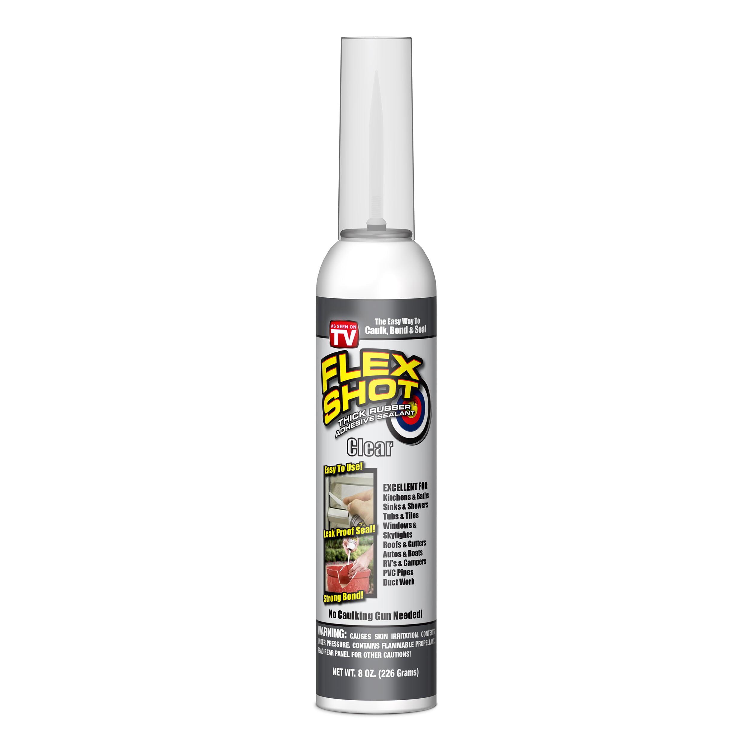 Flex Shot Rubber Adhesive Sealant Caulk, 8-oz, Clear – BrickSeek