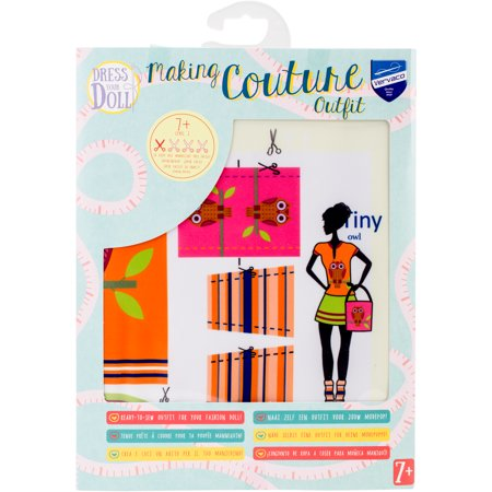 Dress Your Doll Making Couture Outfit Set-Tiny Owl - image 1 de 1