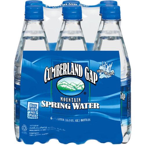 Cumberland Gap Mountain Spring Water, .5 l, 6pk