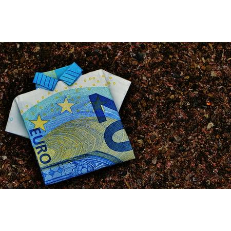 LAMINATED POSTER The Last Shirt 20 Euro Gift Folded Dollar Bill Poster Print 24 x