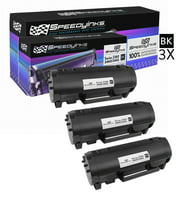 SpeedyInks - 3pk Dell Compatible B2360 331-9805 Black High Yield Laser Toner for use in B2360d, B2360dn, B3460dn, B3465dn, & B3465dnf Printers