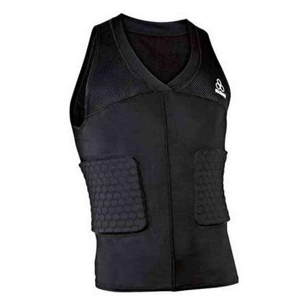 McDavid Classic Logo 7862 CL Mens Hexpad Hexmesh V-Hex Body Shirt-Black-X-Large