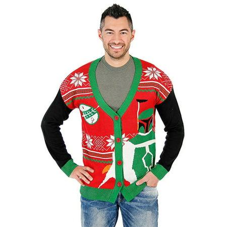 Christmas Cardigan.Star Wars Boba Fett Ugly Christmas Cardigan Sweater