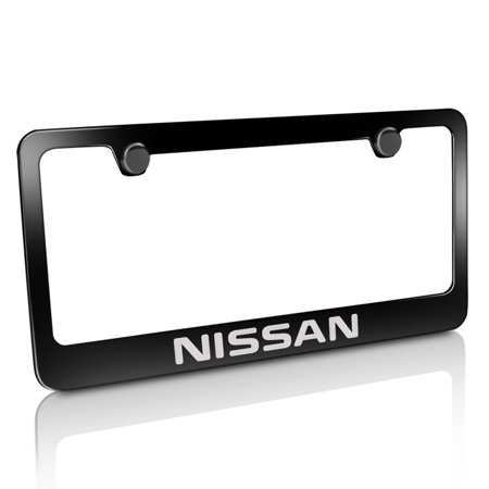 Nissan Black Metal License Plate Frame ()