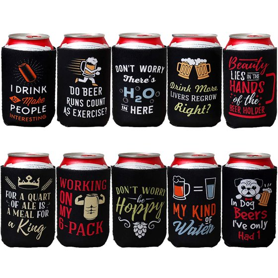 Avery Barn 10 Pack Funny Quotes Neoprene Insulated Beer