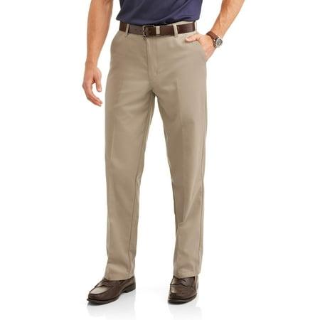 George Men's Wrinkle Resistant Flat Front 100% Cotton Twill Pant with Scotchgard Mountain Khakis Mens Teton Twill