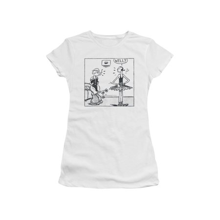 Popeye The Sailor Man Cartoon Strip Popeye & Olive Oil Well Jrs Sheer - Olive Oyl And Popeye