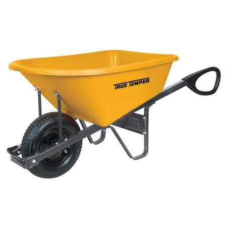 True Temper R6PTC14 6 cu ft Total Control Poly (True Temper 5 Cu Ft Steel Wheelbarrow)