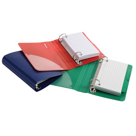- OXFORD POLY INDEX CARD BINDER ASSORTED
