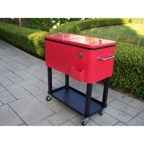 80-Qt Patio Cooler, Red