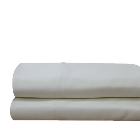 Luxury 100% Bamboo Viscose Pillowcases Woven at 600 Thread Counts-Standard Size Pillowcase Set-Ivory