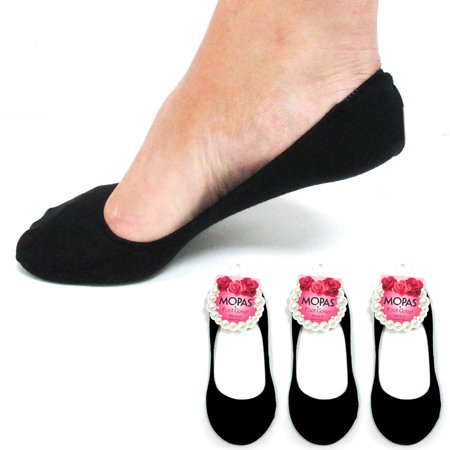 3 Pairs Black Womens Ladies No Show Foot Cover Footies Liner Low Cut (Foot Petals Black Petal Plusheez Socks)