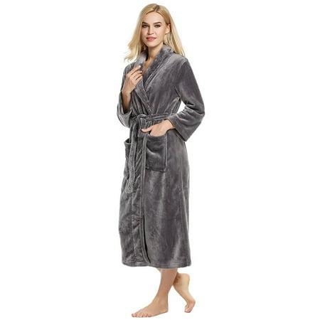 Girls Fleece Shawl Collar Robe - Ladies Robe - Plush Fleece – Kimono Wrap – Spa Bathrobe Women, Girls