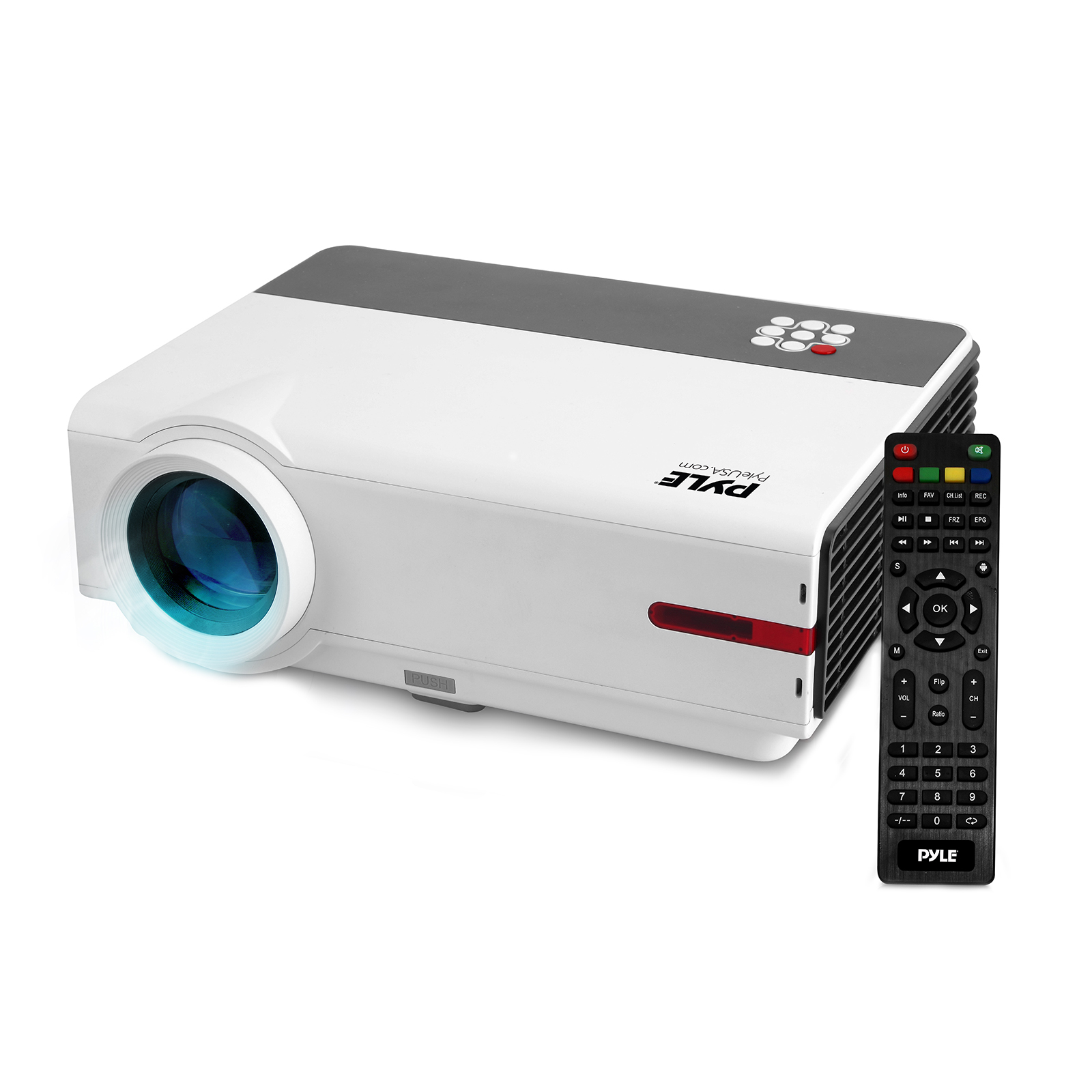 """Android HD Home Theater Smart Projector, Wi-Fi Web Browsing, App Download, Up to 160"""" Display, 1080p Support (Mac & PC Compatible)"""