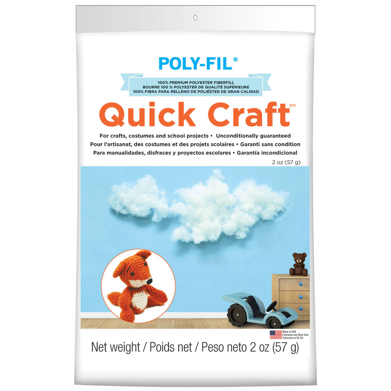 Quickcraft Fiber Fill, 2 oz