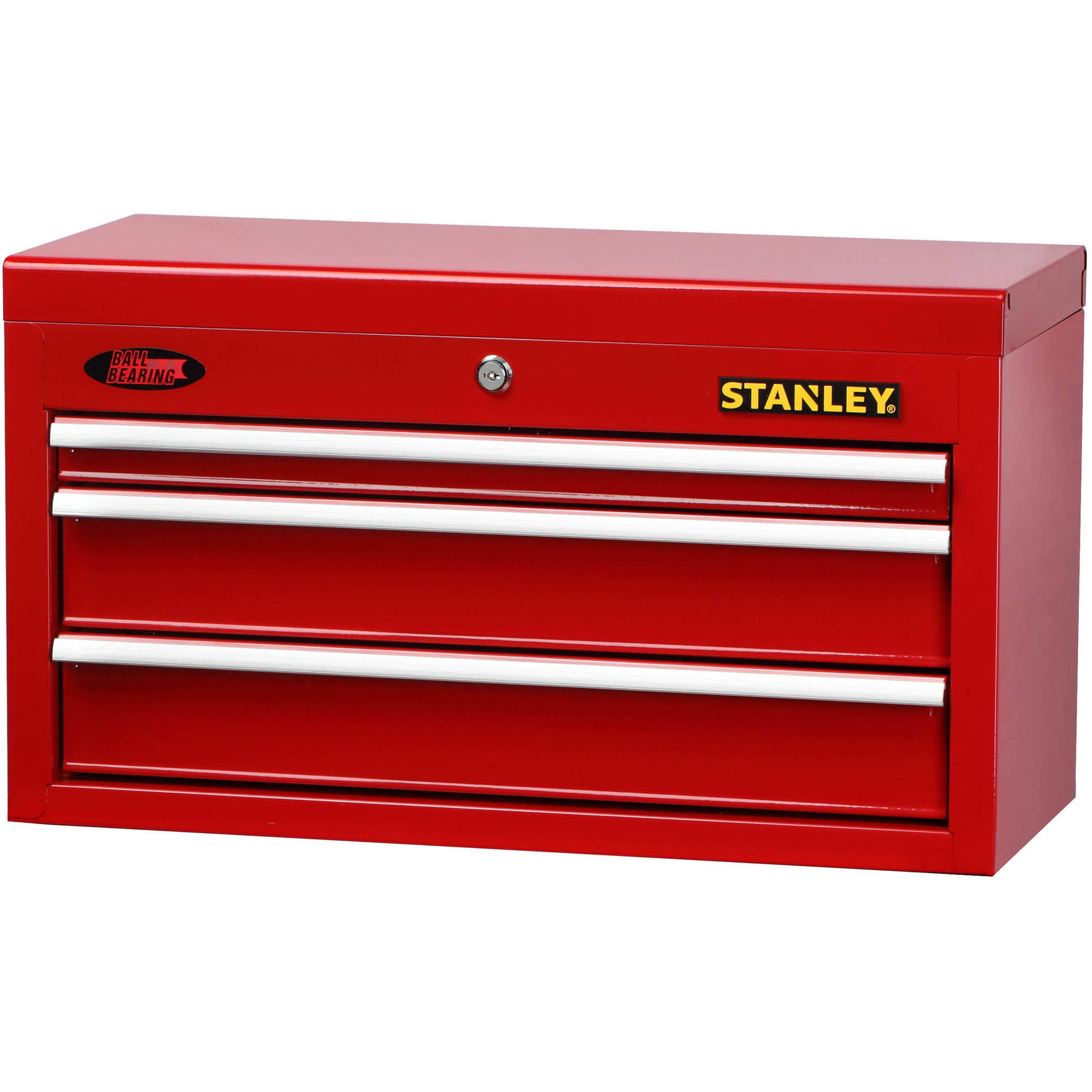 Stanley 5-Drawer Chest and Cabinet Combo with Bi-Fold Doors, Red ...