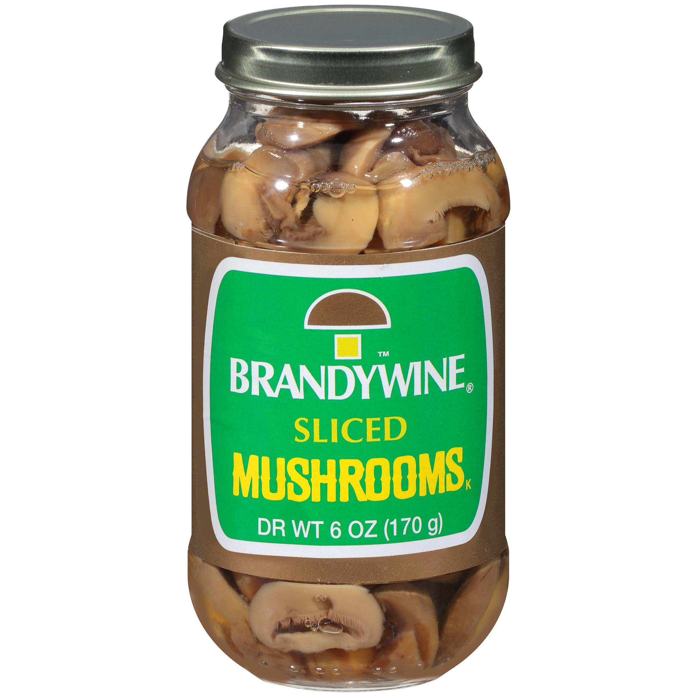 Brandywine Sliced Mushrooms 6 Oz Jar by Giorgio Foods, Inc.
