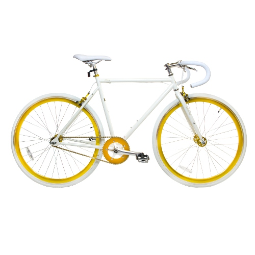 Road Bike by Corsa - 19'' White/Gold DP Fixie