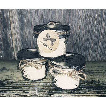 Clean Cotton| 4 oz Candle | Natural Soy | Wood Wick | USA Handmade Handmade Clean Cotton