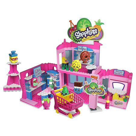 Shopkins Kinstructions Shopville Town Center ModelIncludes: 6 Buildable Figures, Deluxe Set and Accessories By The Bridge Direct - Compton Town Center