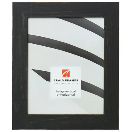 Craig Frames Jasper, Country Charcoal Black Picture Frame, 19 x 25 Inch