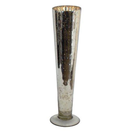 Gliderite 18 Inch Mercury Glass Tall Silver Flower Vase Walmart