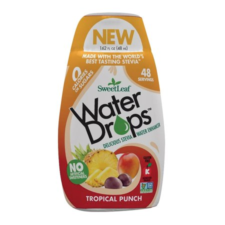 Four Leaf Water (Sweet Leaf Water Drops - Tropical Punch - 1.62 Fl Oz )