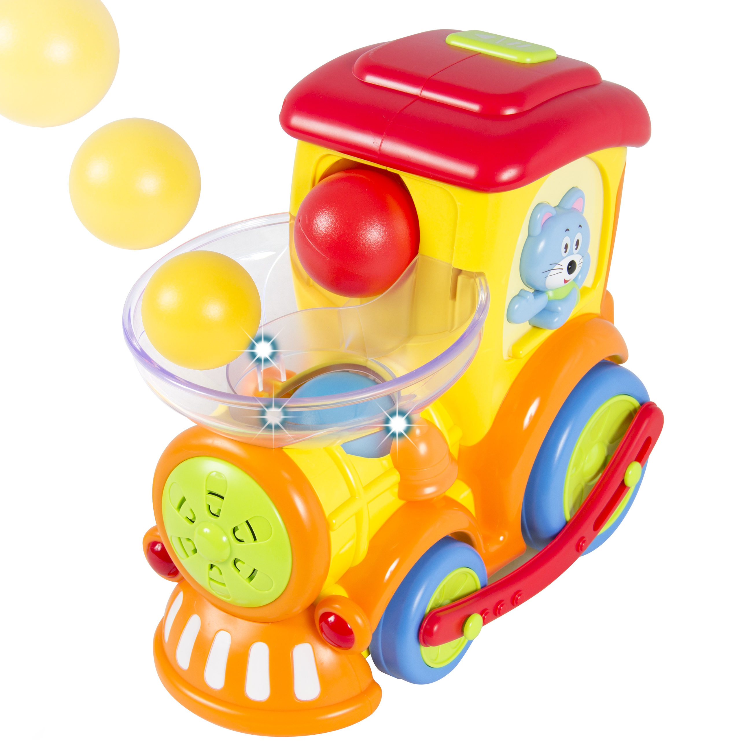 Drop and Go Train Toy, Talks, Sings and Drives on its Own 3 Activity Balls Included
