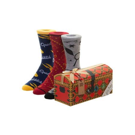 Harry Potter Quidditch Trunk Socks, 3-Pack](Harry Potter Trunk)