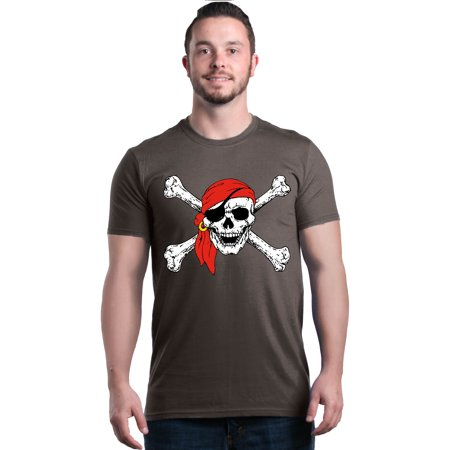 Shop4Ever Men's Skull and Crossbones Pirate Flag Graphic T-shirt Skull Crossbones Pirate