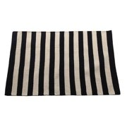 Artim Home Textile Narrow Black/Beige Stripe Area Rug