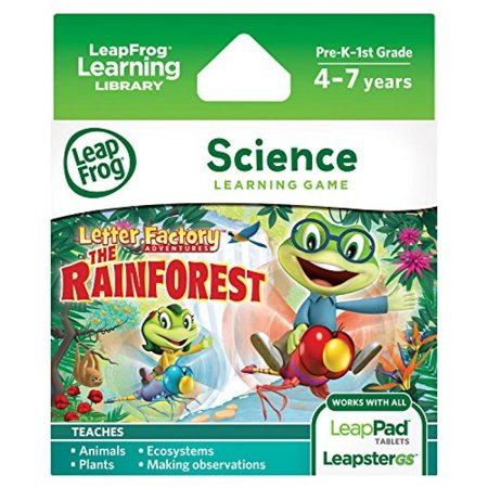 LeapFrog Learning Game Letter Factory Adventures: The Rainforest (for LeapPad tablets and (Rainforest Adventure Game)