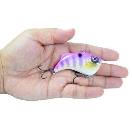 65mm 14g Artificial Hard VIB Bait Crankbait 3D Eyes Lifelike Sinking Fishing Lures Hook with Treble Hooks - image 5 of 7