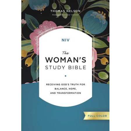 NIV, the Woman's Study Bible, Hardcover, Full-Color : Receiving God's Truth for Balance, Hope, and Transformation](Transformation Man To Woman)