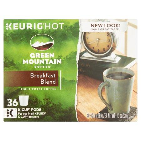 Keurig Green Mountain Coffee Breakfast Blend Coffee K Cups  0 31 Oz  36 Ct
