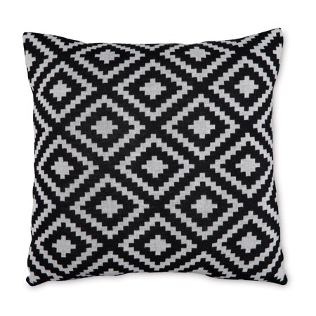 Mainstays Sweater Knit Diamond Decorative Throw Pillow, 18
