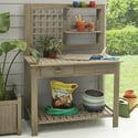 Better Homes & Gardens Camrose Farmhouse Outdoor Potting Bench