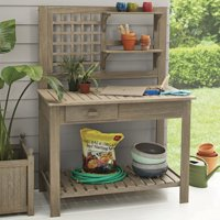 Better Homes & Gardens Camrose Farmhouse Outdoor Potting Bench