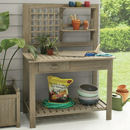 Better Homes And Gardens Camrose Farmhouse Outdoor Potting Bench