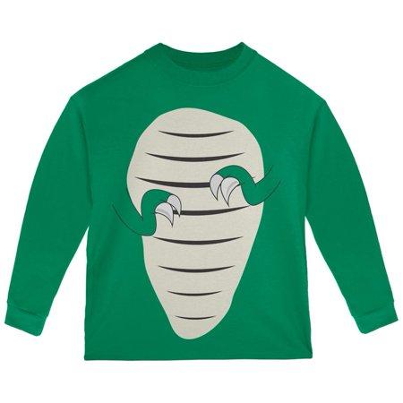 Halloween Jurassic   T Rex Costume Green Toddler Long Sleeve T Shirt