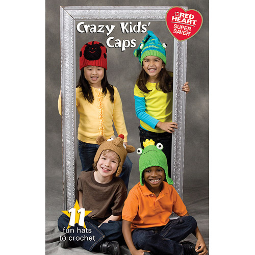 Coats & Clark Books-Crazy Kids Caps -Super Saver Multi-Colored