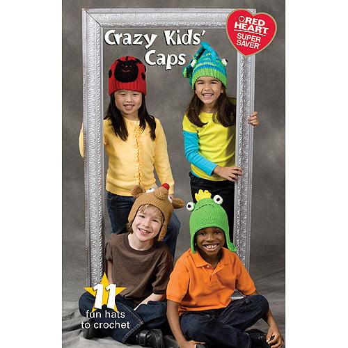Coats & Clark Books-Crazy Kids Caps -Super Saver Multi-Colored