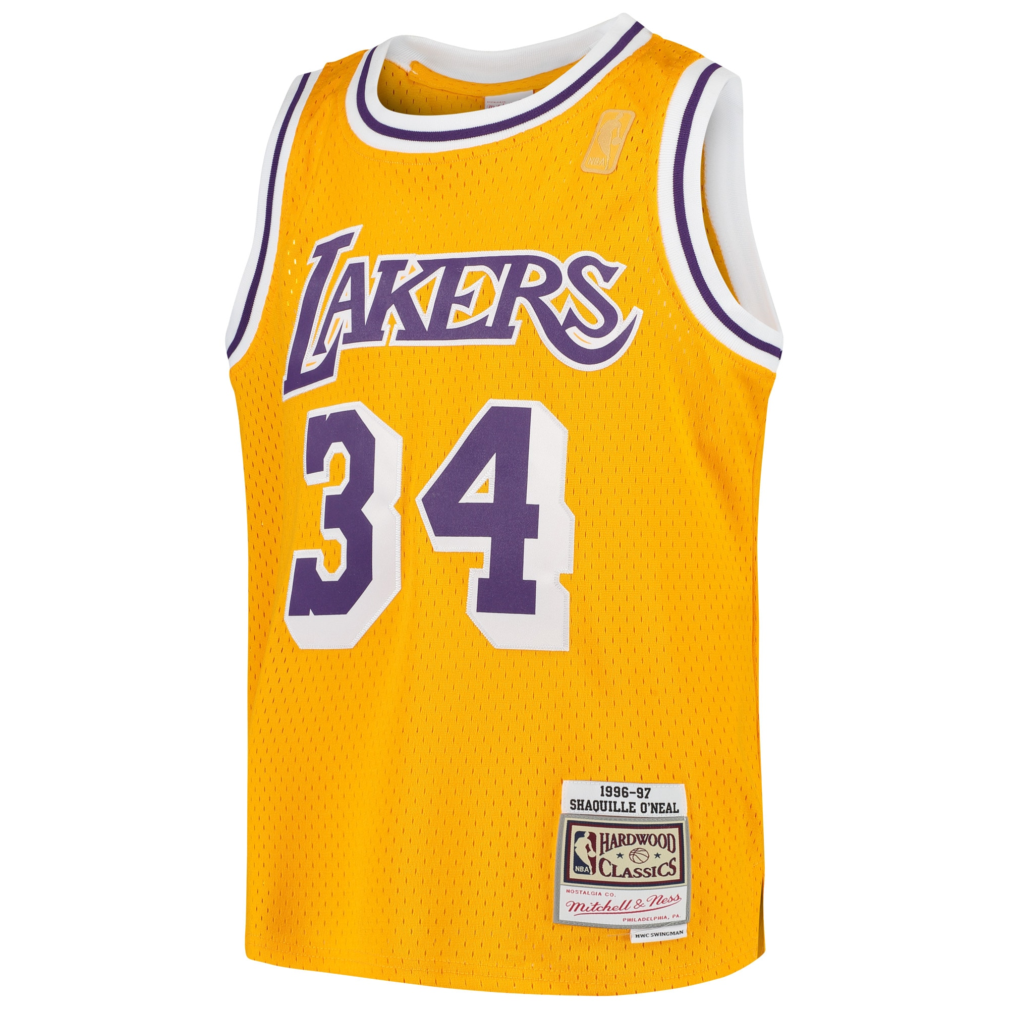 Shaquille O'Neal Los Angeles Lakers Mitchell & Ness Youth Swingman ...