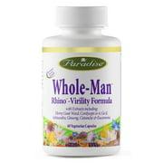 Whole-Man,Rhino Virility Formula Paradise Herbs 60 VCaps