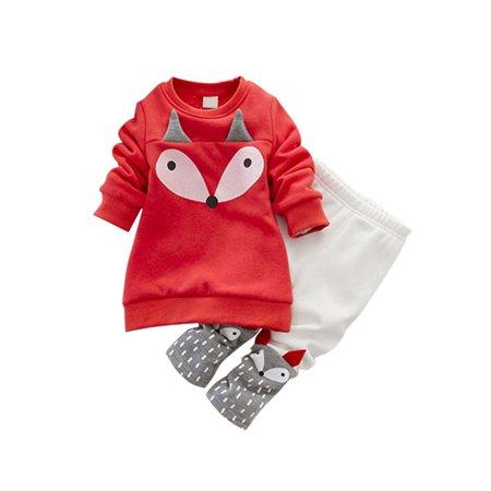 64281e93485e Sweetsmile - Sweetsmile Autumn Winter Baby Kids Warm Clothes Sets ...
