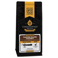 Toasted Island Coconut Flavored Decaf Ground Coffee, 12 Ounce Bag