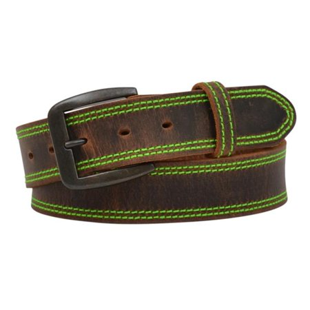 3D Belt D1194-42 1.50 in. Brown Distressed with Hot Green Belt - Size 42