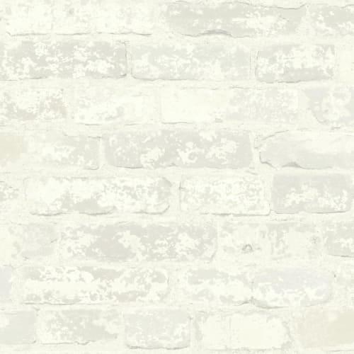 RoomMates Stuccoed White Brick Peel and Stick Wallpaper