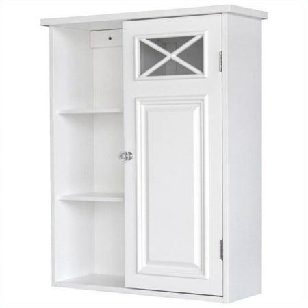 Elegant Home Fashions Dawson 1-Door Wall Cabinet in