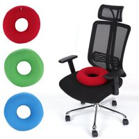 WALFRONT 3Colors New Inflatable Round Chair Pad Hip Support Hemorrhoid Seat Cushion With Pump, Office Seat Cushion, Haemorrhoids Cushion
